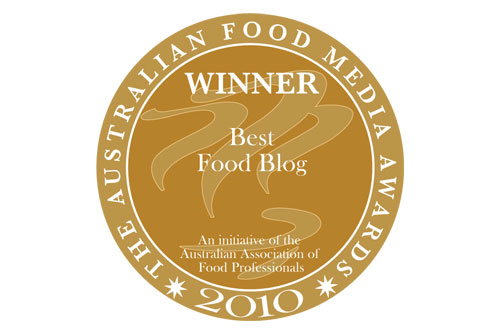 Best Food Blog Award AFMA 2010