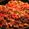 Thumbnail image for Musa Dagdeviren's eggplant and lentil stew with pomegranate molasses