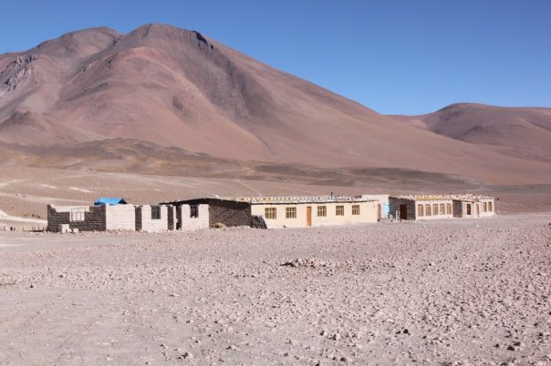 Rustic accommodation at Laguna Colorada
