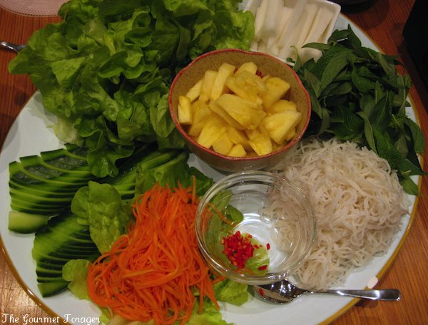 Rice paper roll ingredients