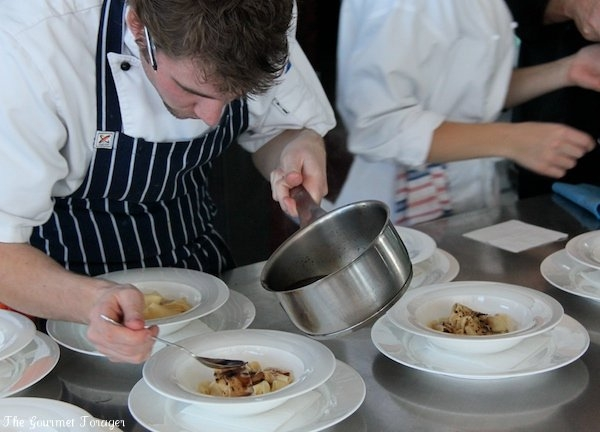 Plating pappardelle