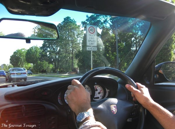 Driving the porsche back to Sydney