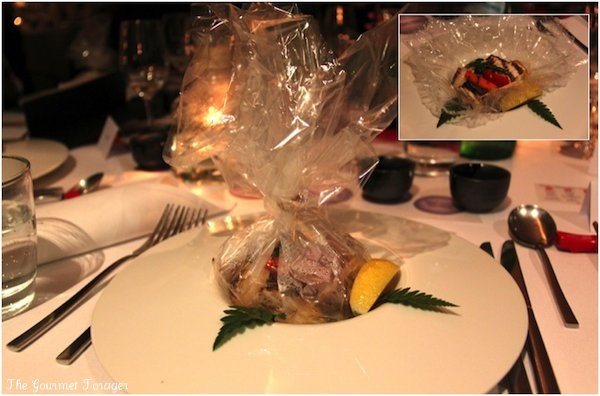 Cellophane bag steamed snapper