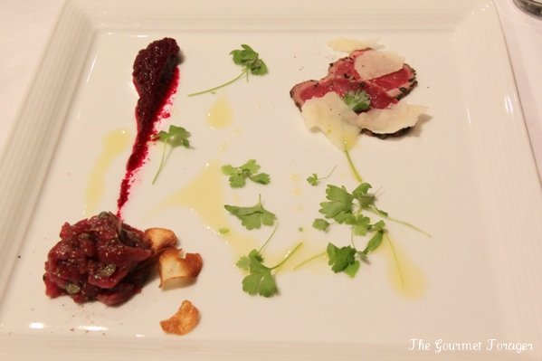 Horse tartare and carpaccio