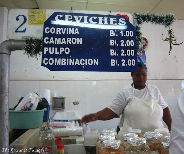 Ceviche lady