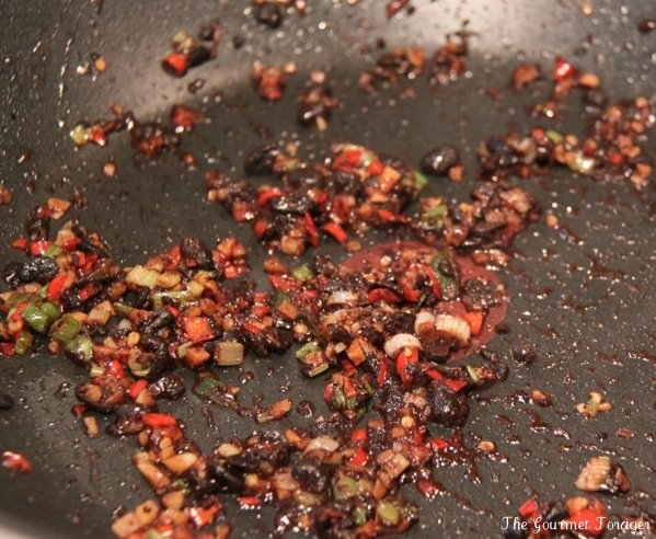Dry frying aromatic spices