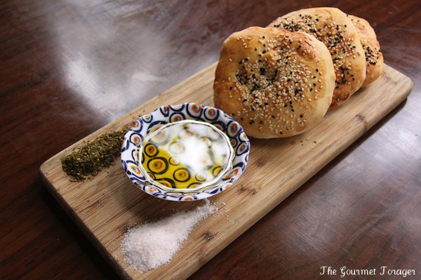 Fresh Turkish bread and olive oil