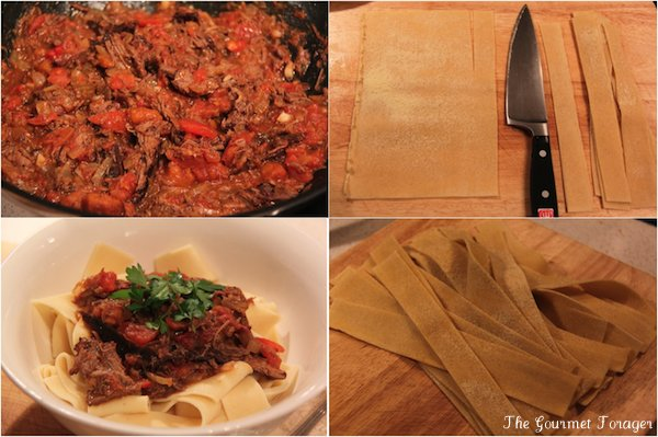 Creating Pappardelle ragu
