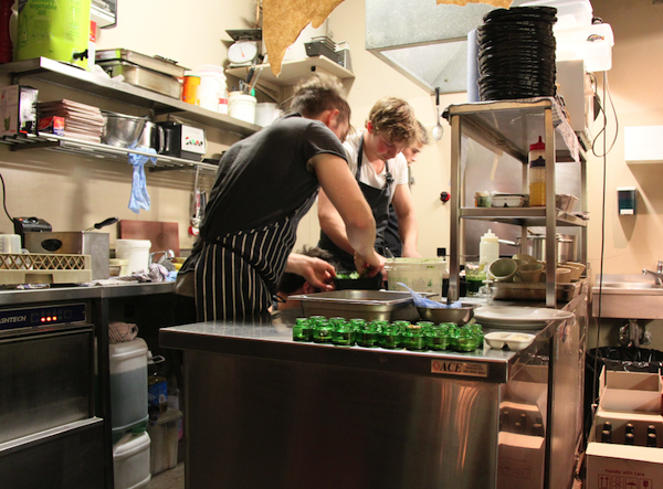 Action in the Wasted kitchen