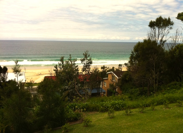 The view from our holiday house in Mollymook
