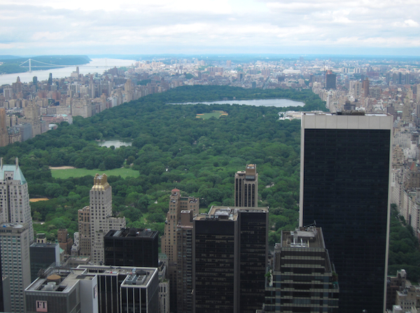 The view from the Top of the Rock over Central Park