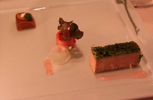 Duck terrine Pistachio rhubarb Daniel New York