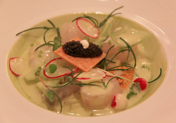Tai snapper ceviche, northern lights caviar, Daniel New York