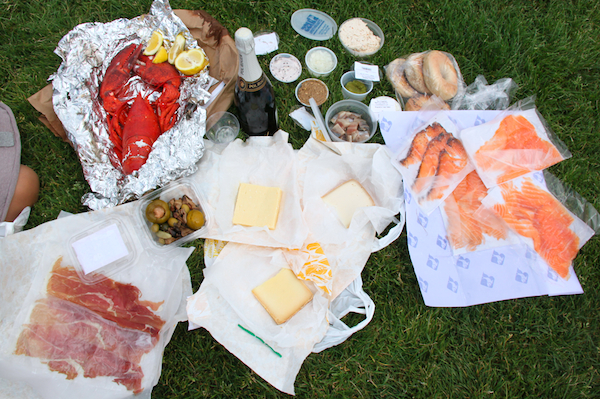 Our New York food pilgrimage picnic spread
