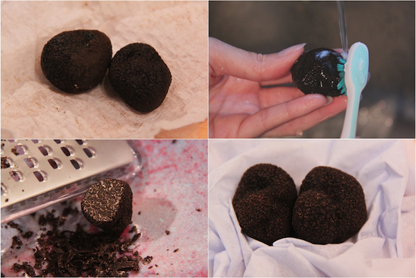 How to clean of black Perigord truffles