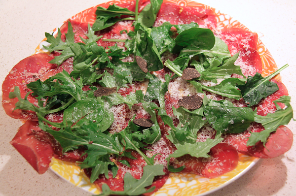 Entree: Bresaola with truffle