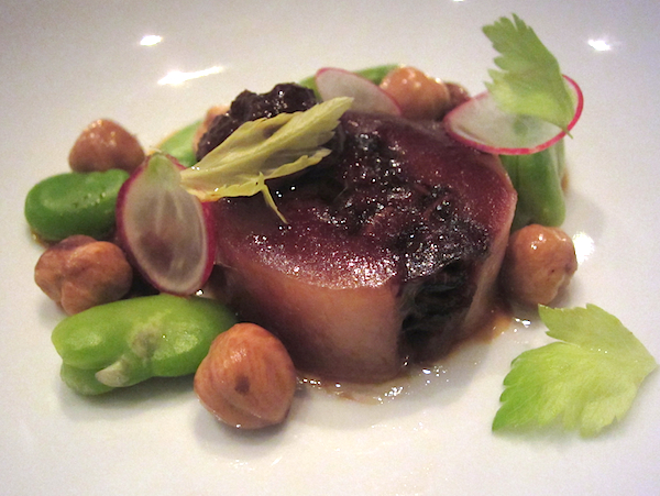 Phil Wood, Rockpool, Glazed pigs head, hot and sour gluten, broad beans, SIFF