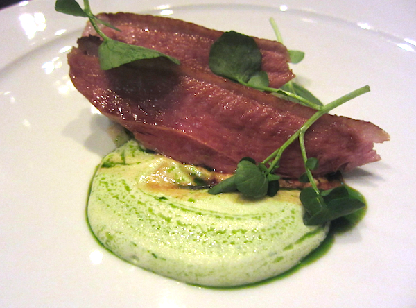 Daniel Puskas, Six Penny Restaurant, Aylesbury duck breast, fennel, apple, apple buttermilk cream, SIFF