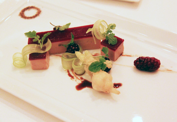 """Terrine of Hudson Valley moulard duck foie gras"" per se"
