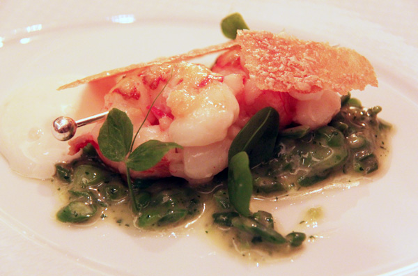 """Scottish langoustines 'en brochette'"" Per Se"