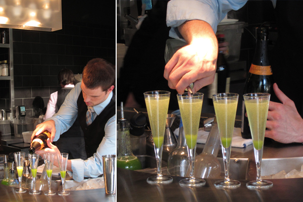 Celery: distilled lime, sparkling, The Aviary, Chicago, Grant Achatz