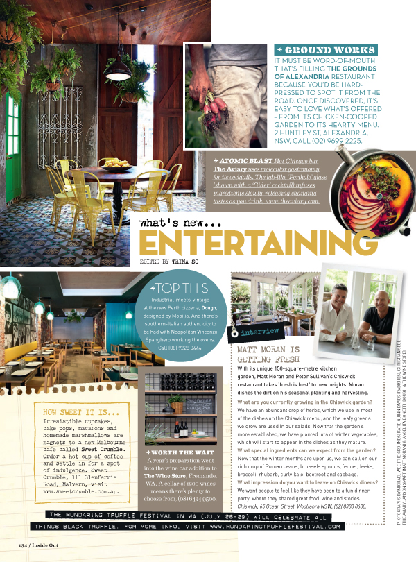 Inside Out Magazine Entertainment Page July - August 2012. (Click on image to enlarge)