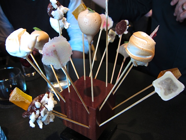 El Bulli inspired Lollipops: balsamic, meringue, The Aviary, Grant Achatz, Chicago