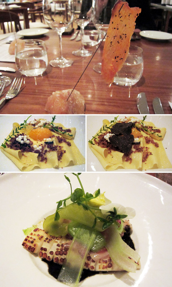 Biota starters and entrees