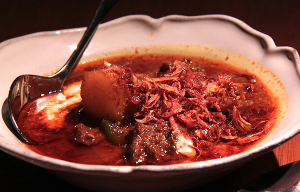 Nahm Bangkok, beef mussaman curry with shallots and golden yams