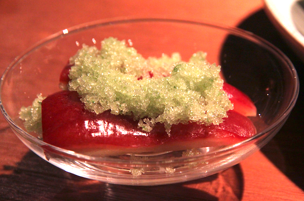 Nahm Bangkok, rose apple palate cleanser