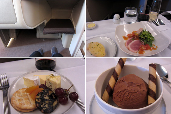 Singapore Airlines SGA Business Class in flight meal