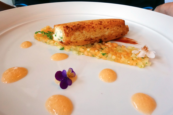 Caffe Sicilia, Surry Hills, Heinz Beck, Michelin Star, crispy bread cannolo mulloway melon celery