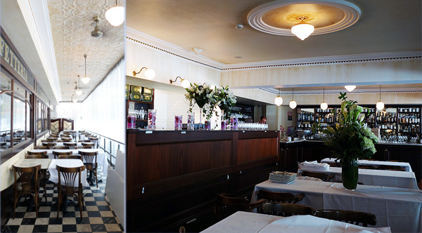 Caffe Sicilia interior dining room Surry Hills Heinz Beck 3 Michelin stars