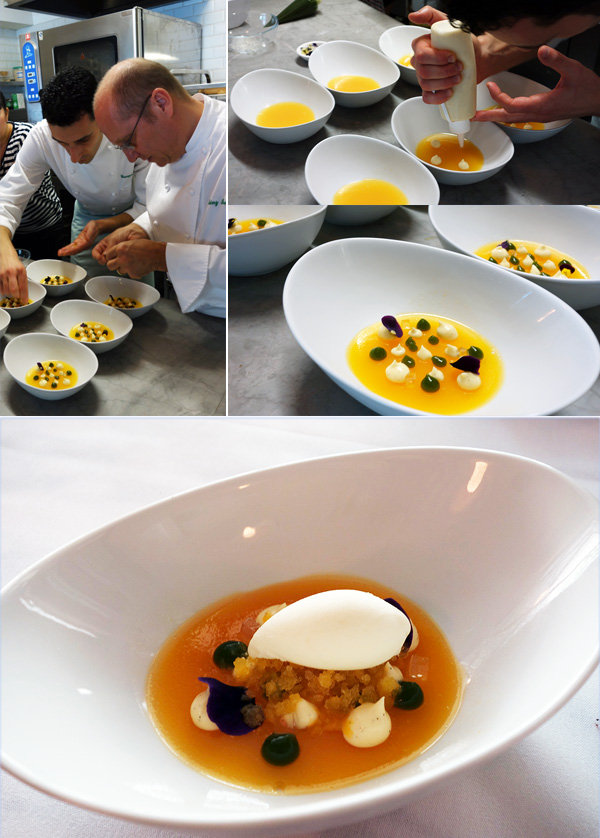 Heinz Beck, orange jelly dessert, Caffe Sicilia,