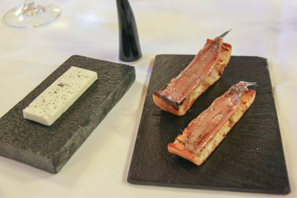 Etxebarri, salted anchovy, goat's milk butter