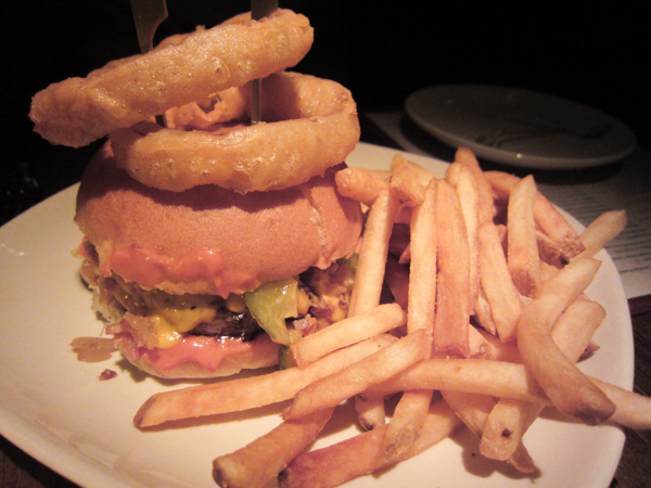 The Bash burger at Burger and Barrell