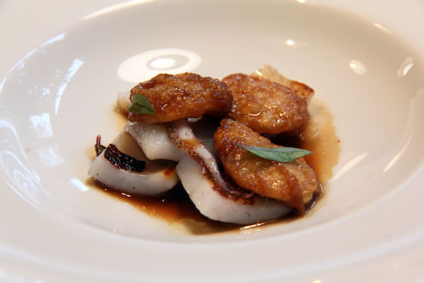 Stew of lemon rinds and grilled squid, Mugaritz